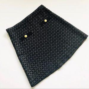 Zara Black with Gold Button Knit Skirt
